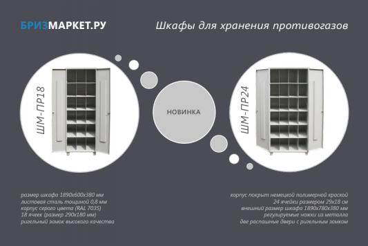 Шкафы для хранения противогазов